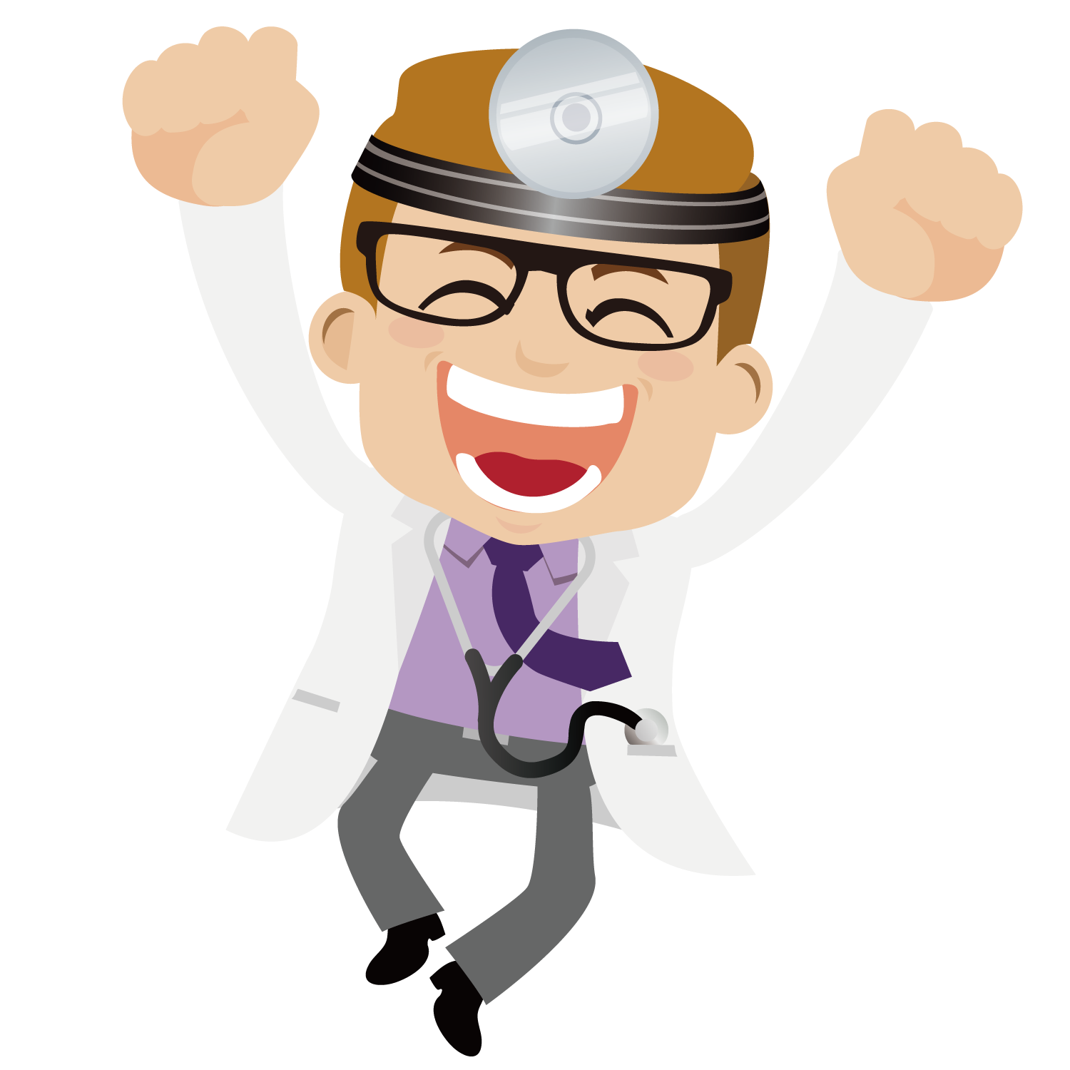 Physician cartoon clip art. Excited clipart excitment