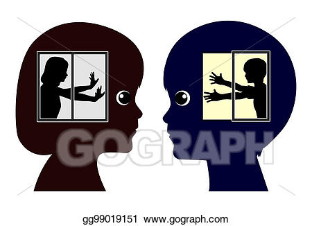 Stock illustration introverted and. Excited clipart extroverted