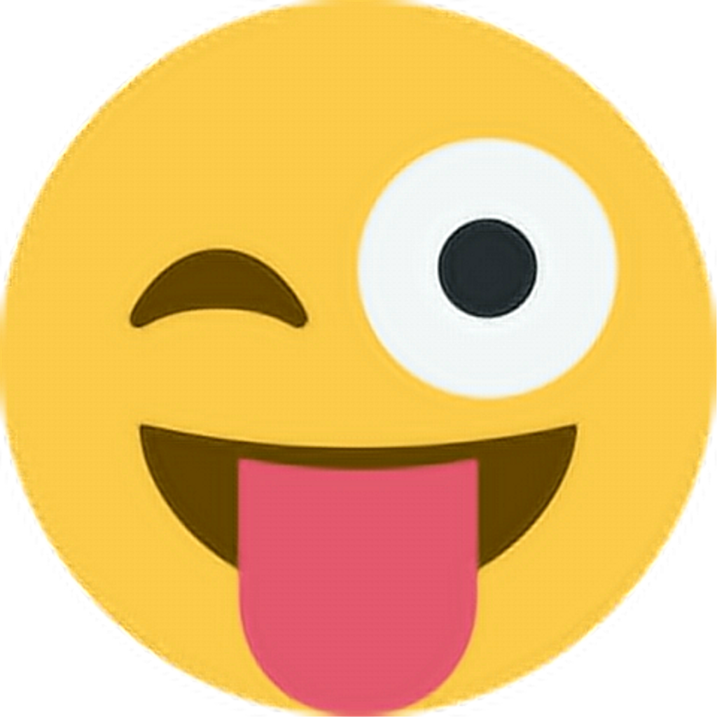 Happy tongueout tongue emoji. Excited clipart face
