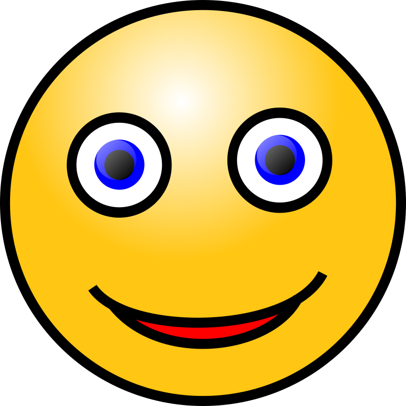 Excited clipart face. Emoticons smiling medium image