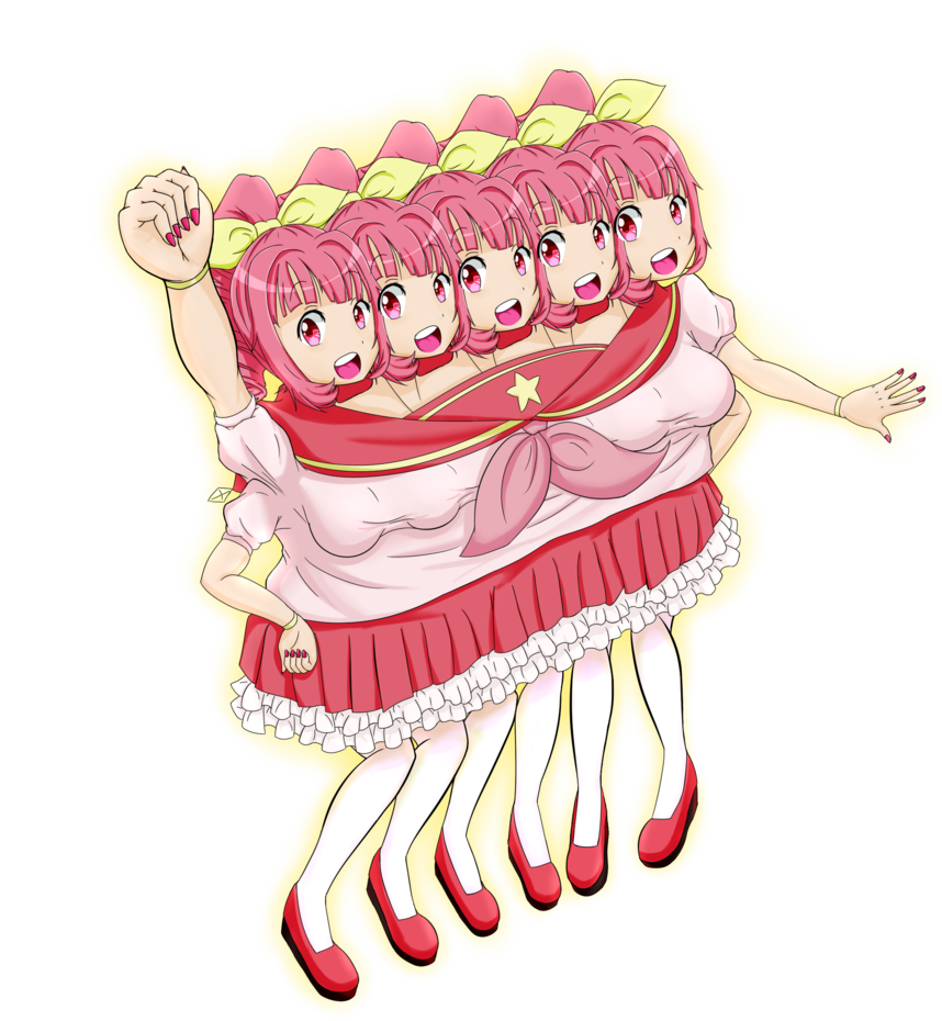 Lilizia the headed miracle. Excited clipart five girl