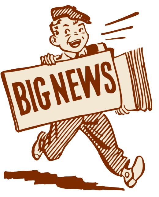 Excited clipart great news. Flash theutopiauniverse bignews