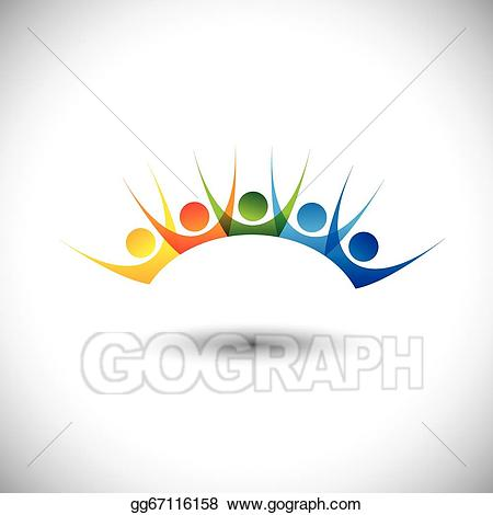 Clip art vector colorful. Excited clipart happy customer