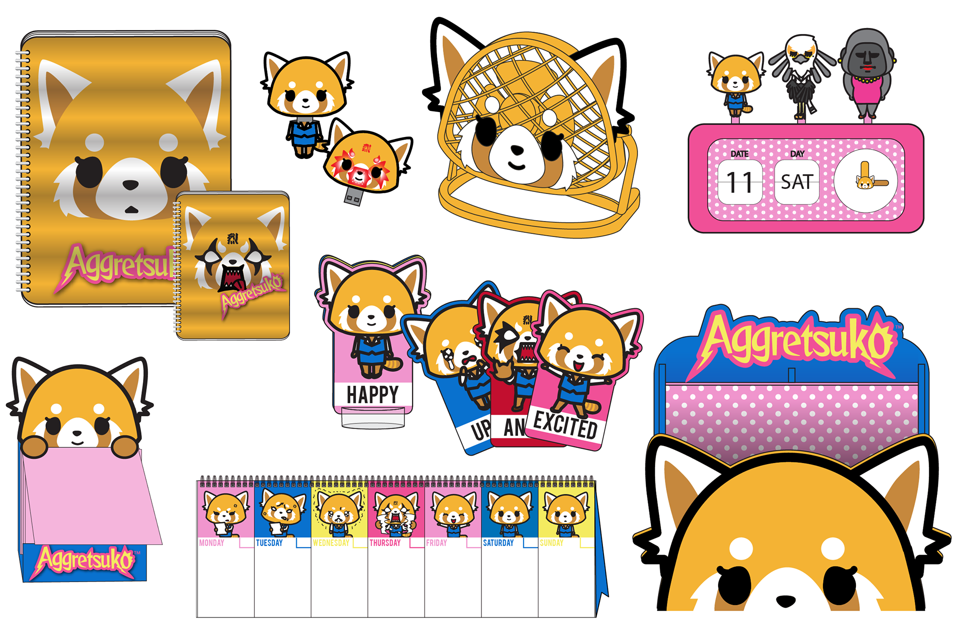 Tara carone sanrio products. Excited clipart happy office worker