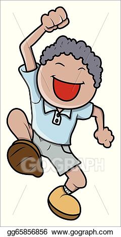 Excited clipart hapy. Eps vector happy little