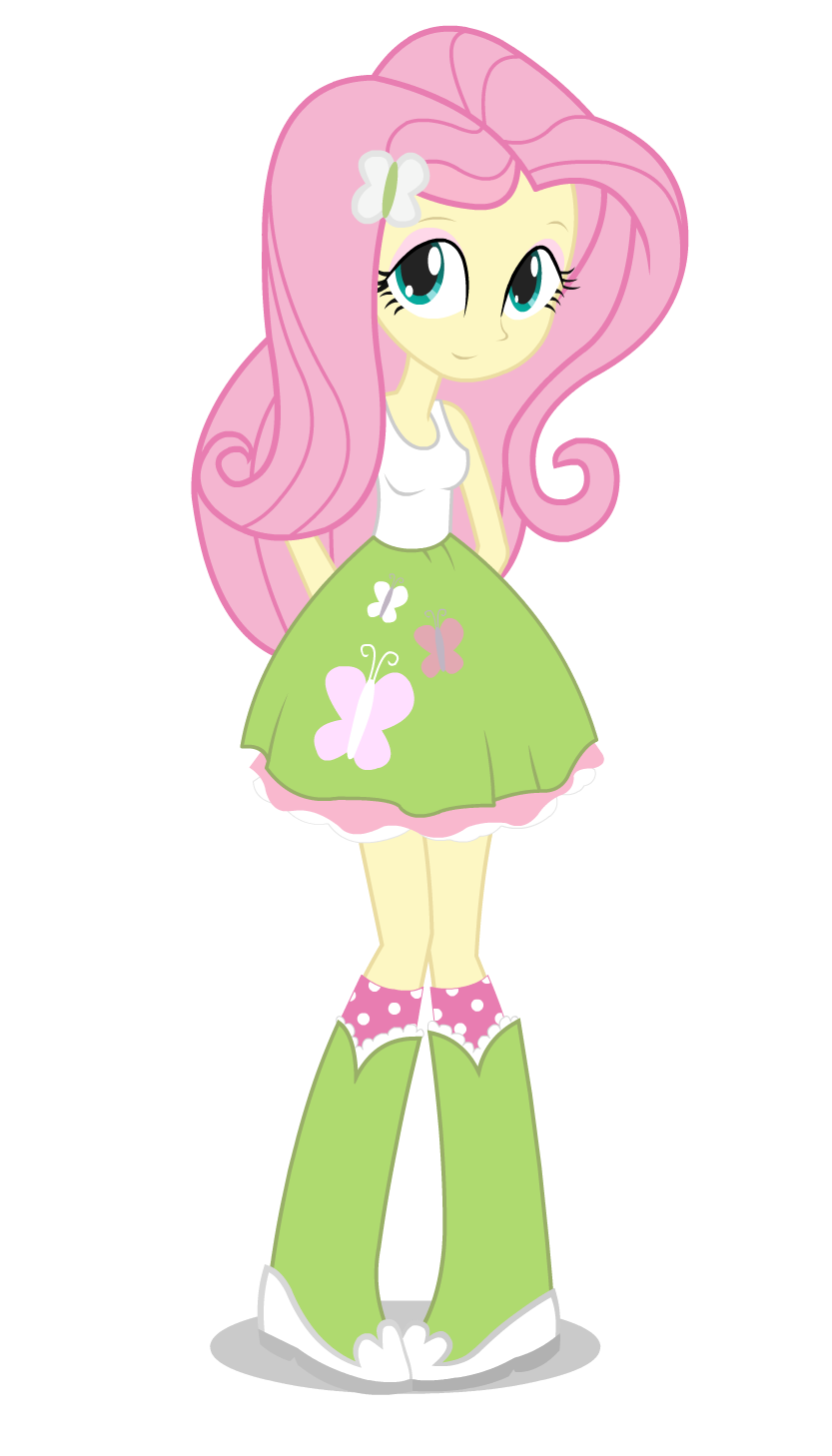 Shy clipart adorable girl. Eqg fluttershy world of