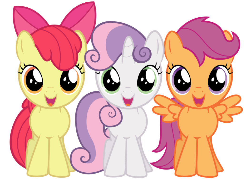 Cutie mark crusaders by. Excited clipart lot friend