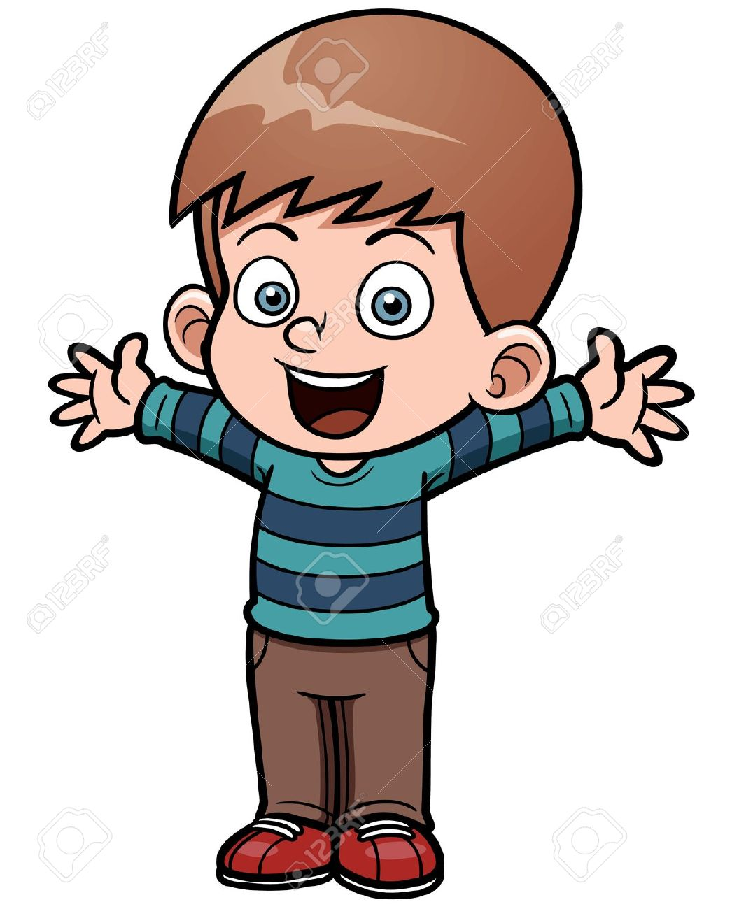 Little free download best. Young clipart excited boy