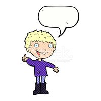 Excited clipart speech bubble. Cartoon boy with stock