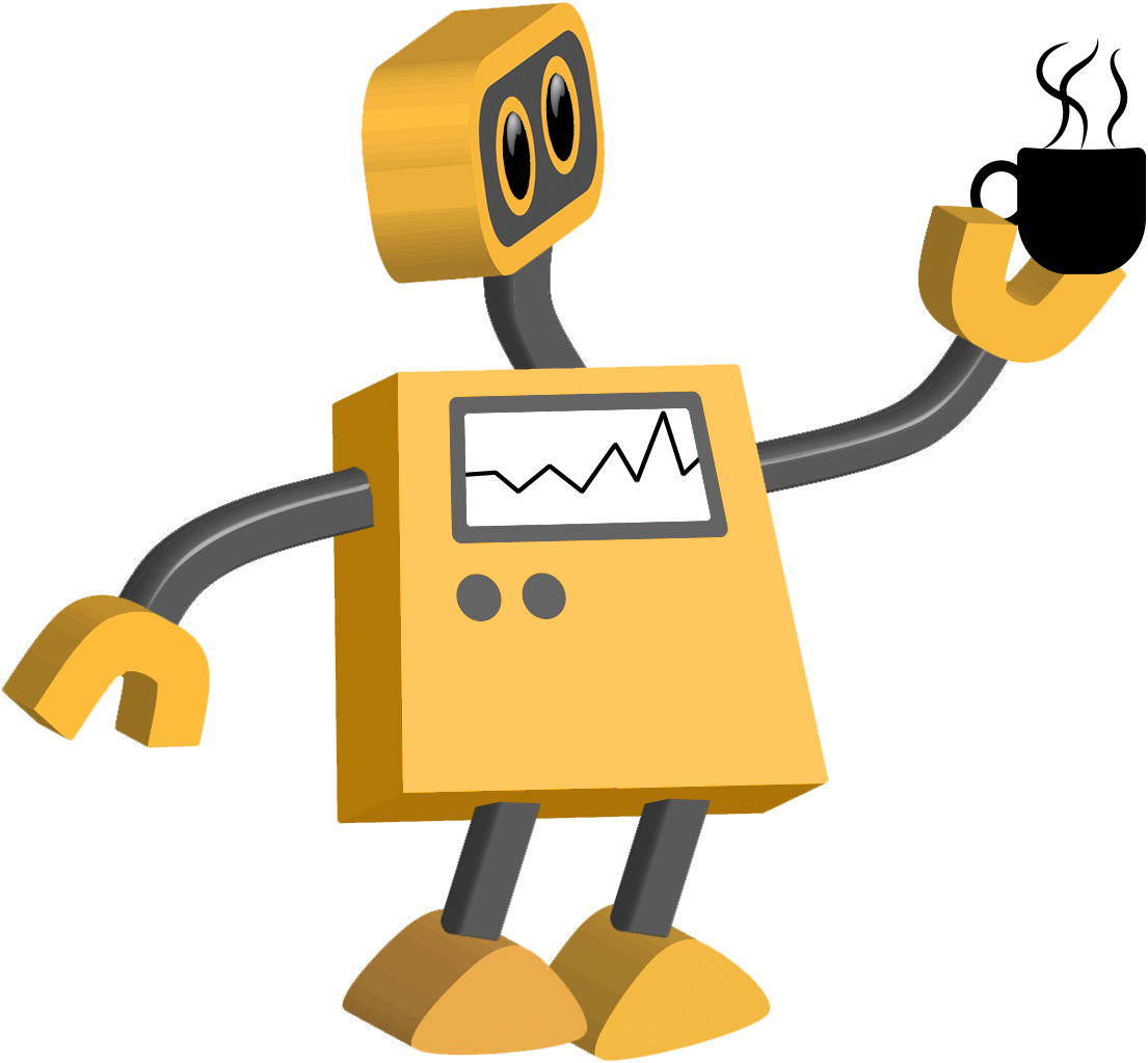 Excited clipart speech delivery. Color cartoons tim robot