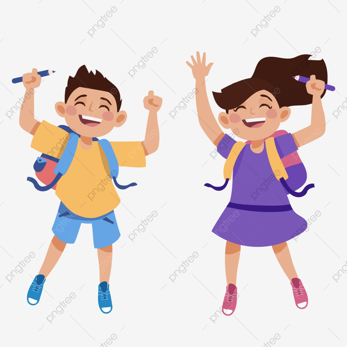 Excited clipart started. Happy to go school