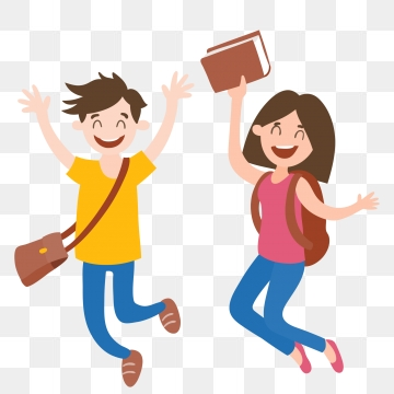 Happy to go school. Excited clipart started