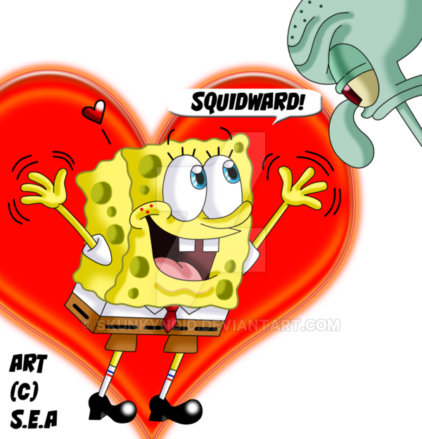 Excited clipart thrilled. Sbsp squidbob for squidward