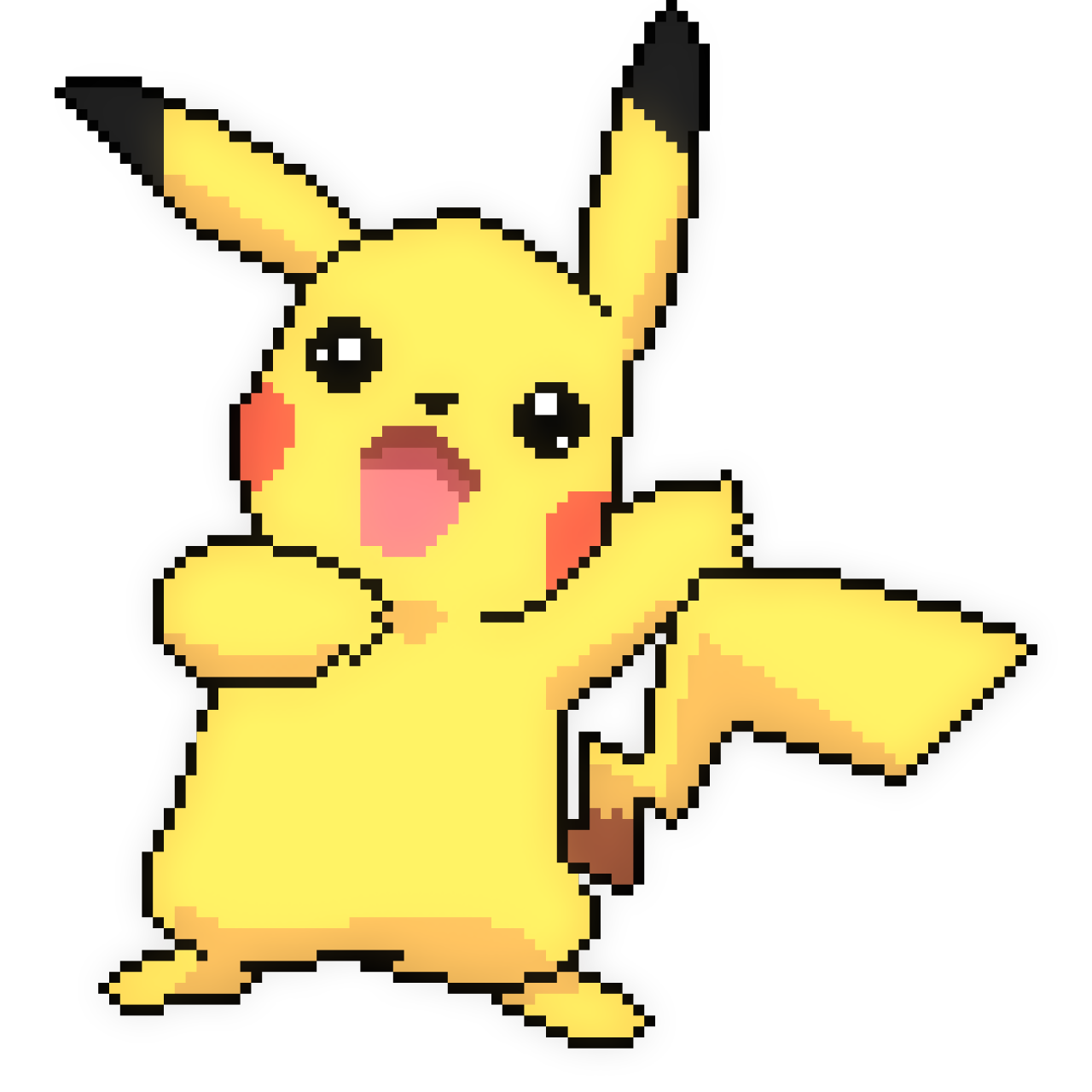 Pikachu clipart happy. Transparent png pictures free