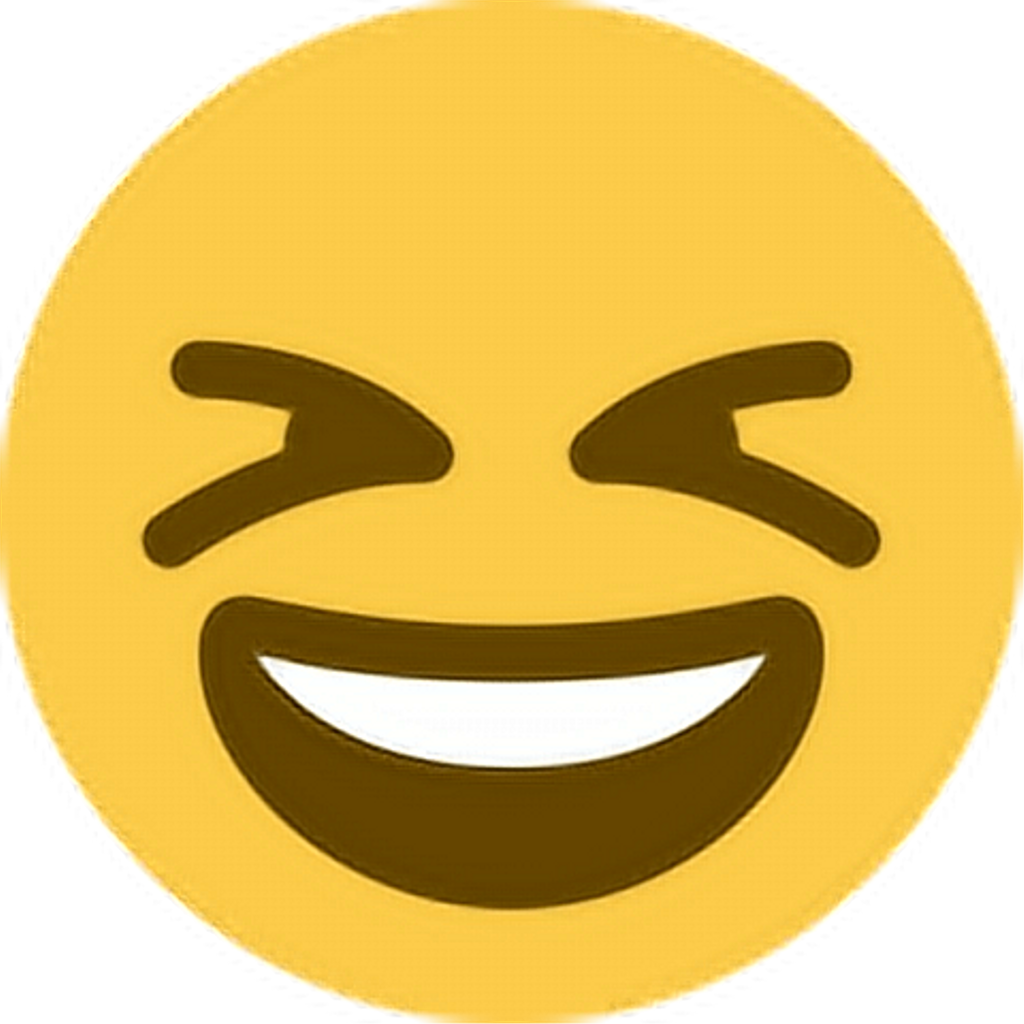 Smile laugh emoji emoticon. Excited clipart yellow happy face