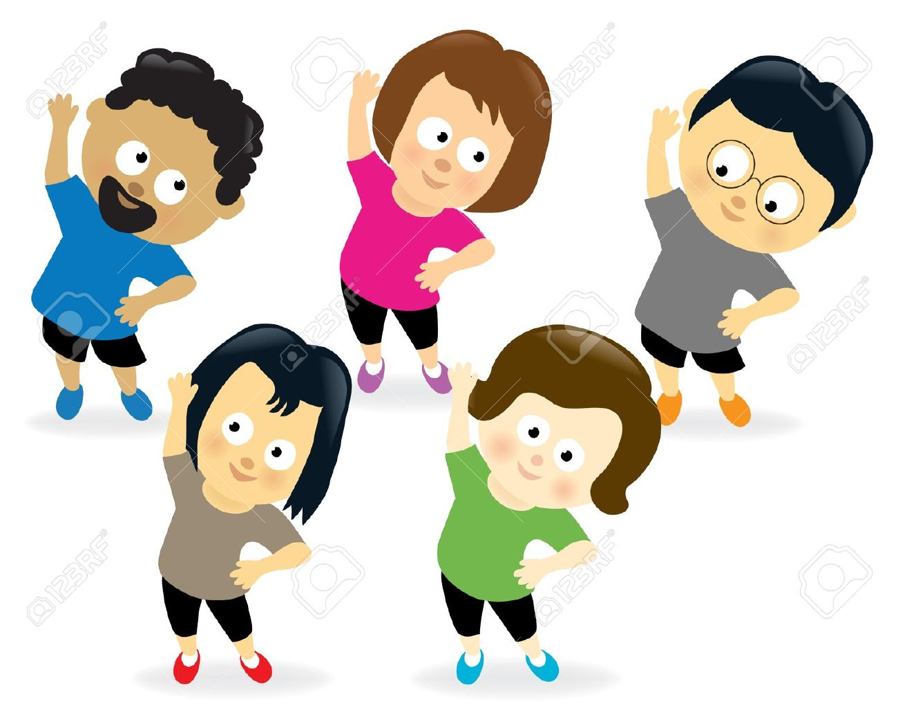 Adult exercise . Exercising clipart