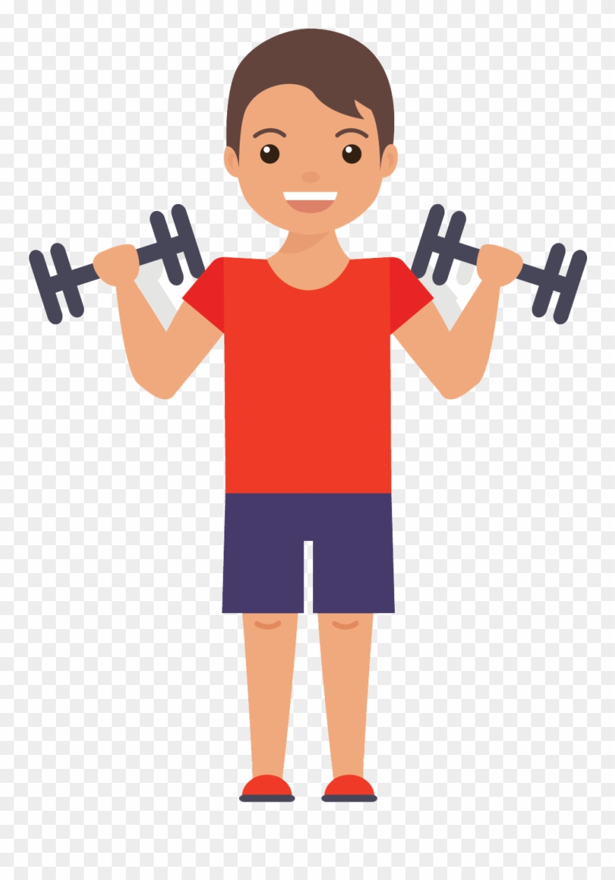 Muscles gym exercise flat. Exercising clipart fitness centre