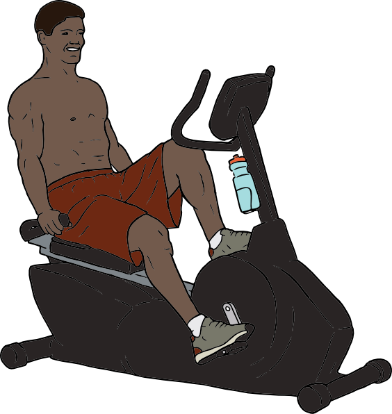 Bike man clip art. Exercise clipart animated