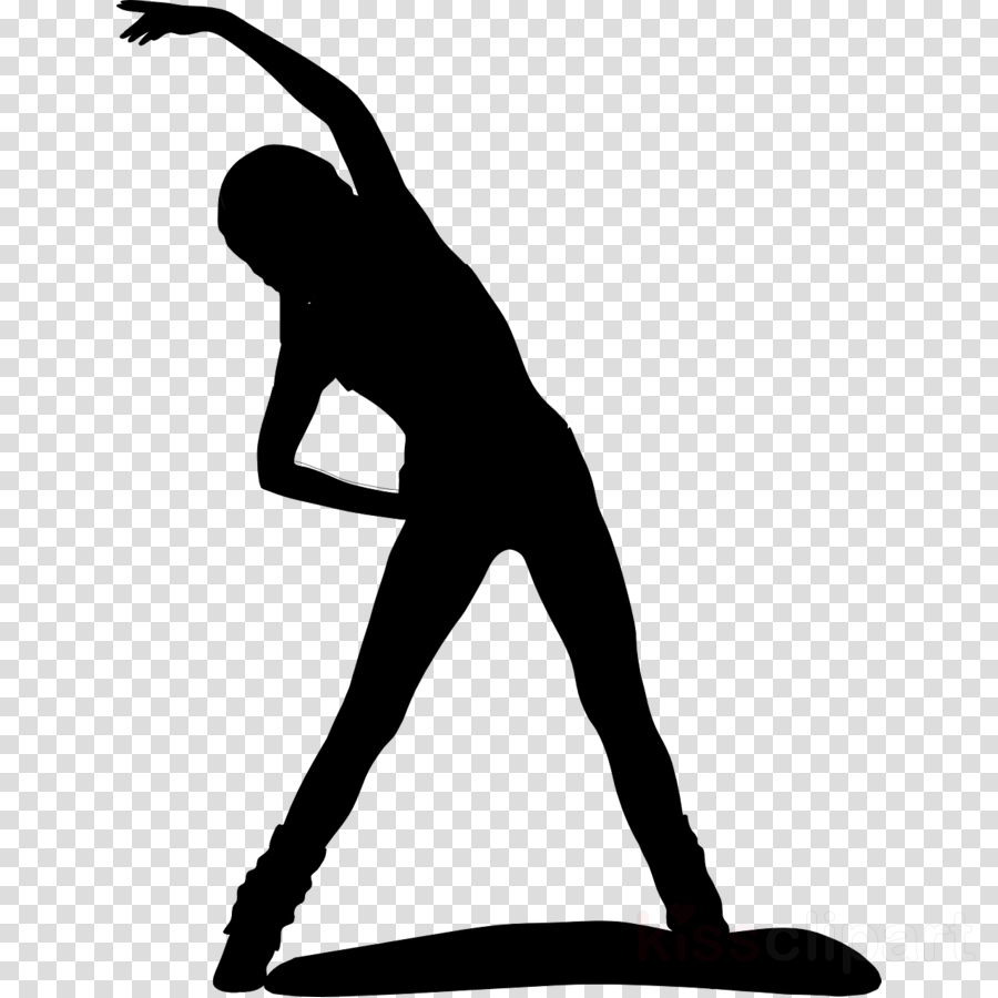 Exercise clipart balance exercise. Fitness cartoon silhouette