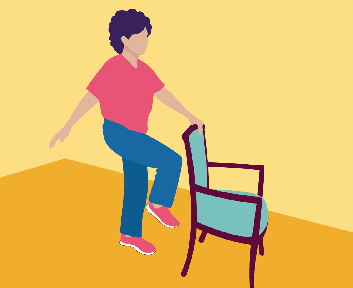 Exercising clipart balance exercise.  exercises for seniors