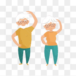 Workout for the png. Exercise clipart elderly