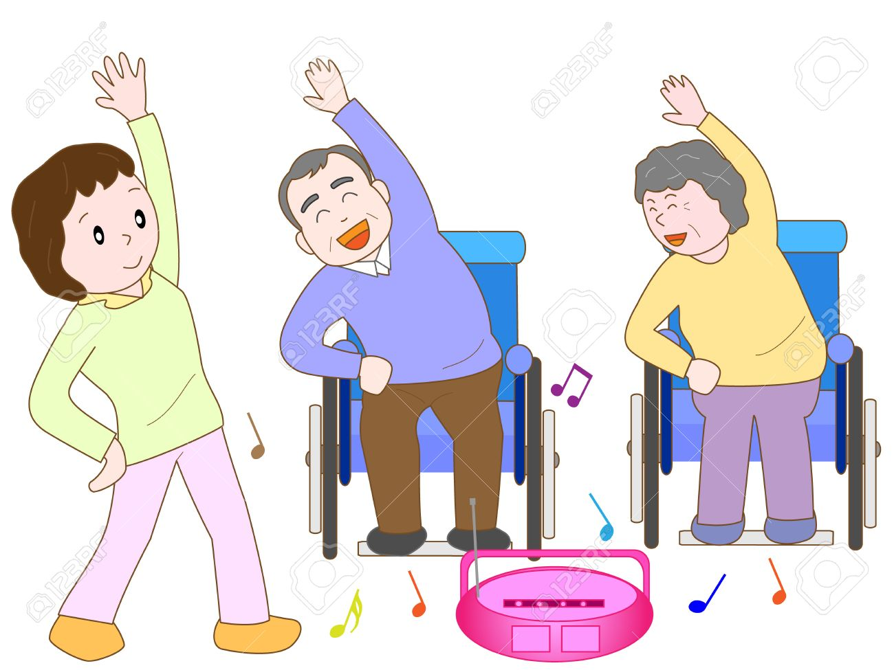 Exercise clipart elderly. Exercising cliparts making the