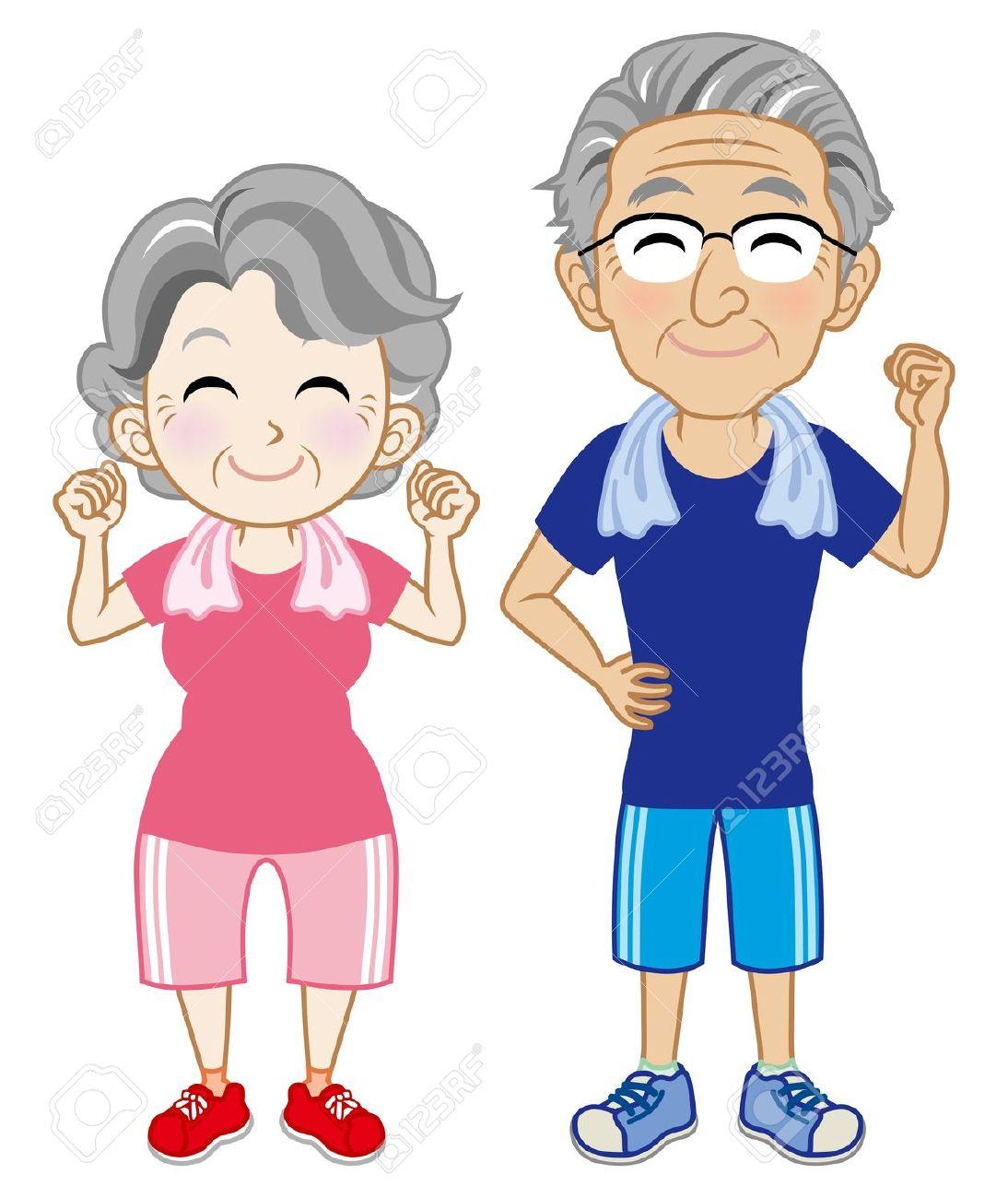 Exercise clipart elderly. Seniors free download best