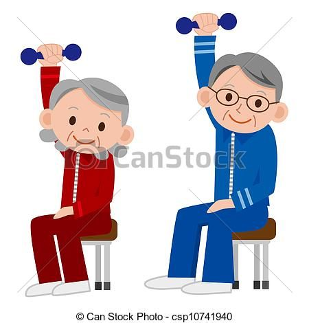 Exercise clipart elderly. Image result for free