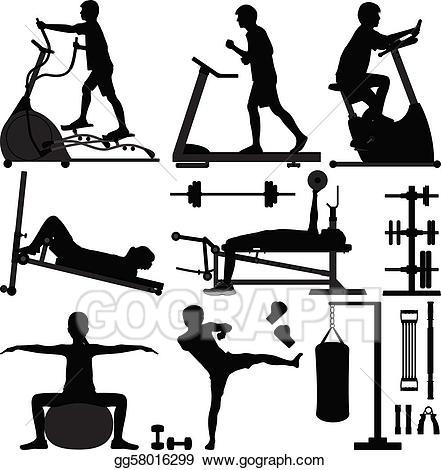 Exercise clipart exercise man. Eps illustration gym gymnasium