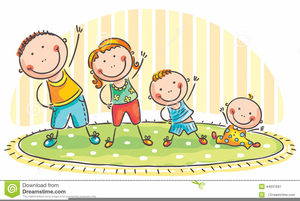 Children doing exercise free. Exercising clipart childrens