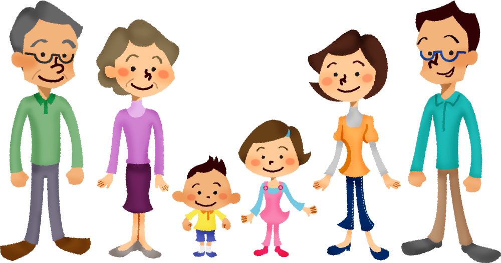 Exercise clipart family. Three generation free illustrations