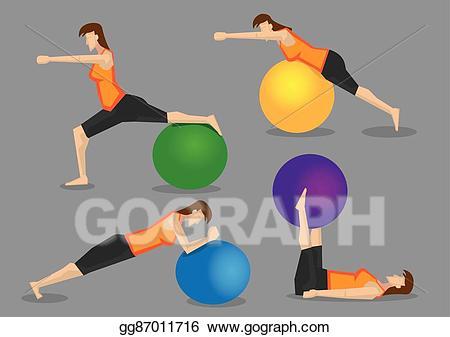 Eps illustration woman workout. Exercise clipart fitness program