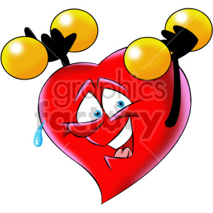 Cartoon exercising character royalty. Exercise clipart heart
