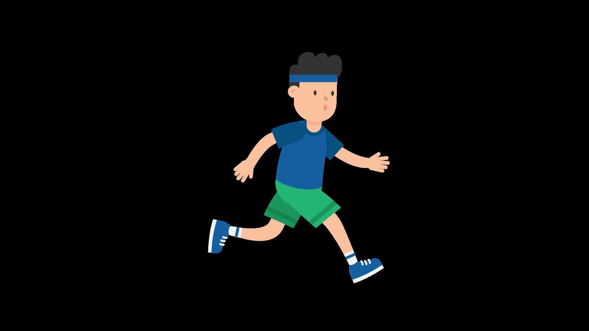 File man cartoon svg. Exercise clipart jogging