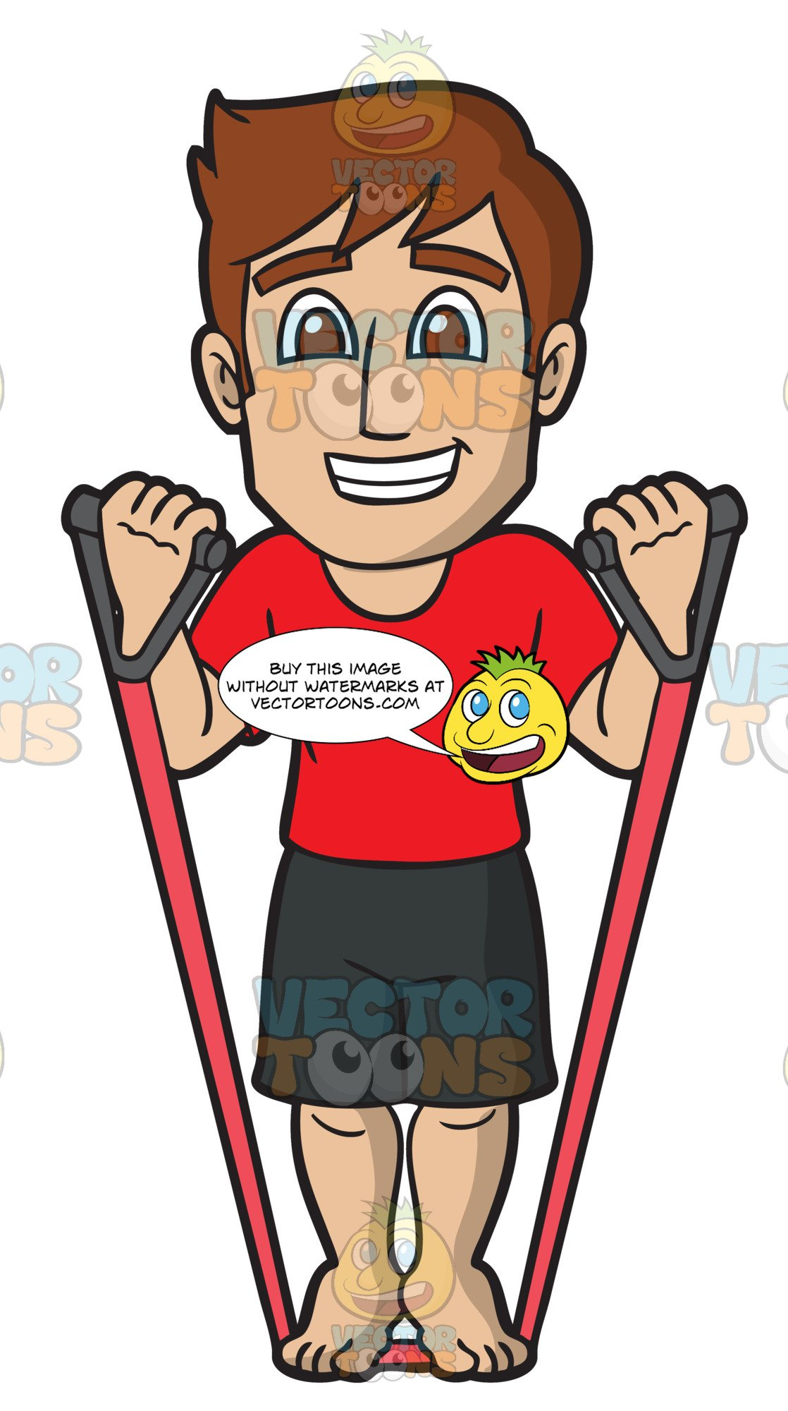 A man doing some. Exercise clipart resistance exercise