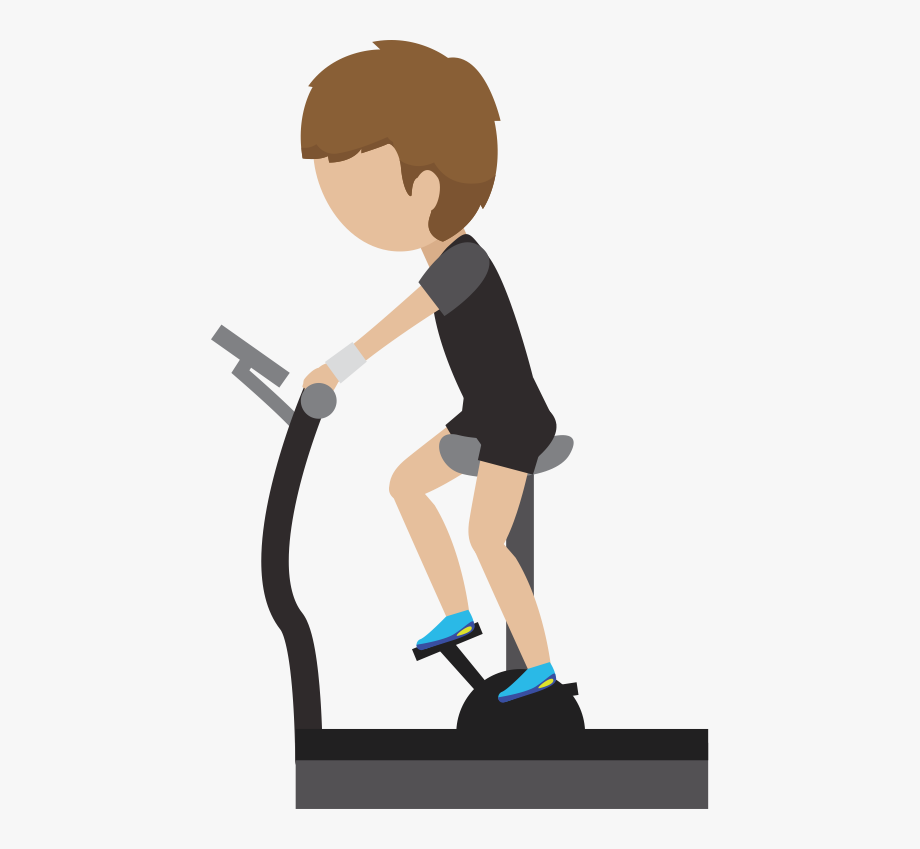 Running machine png . Exercising clipart moderate exercise