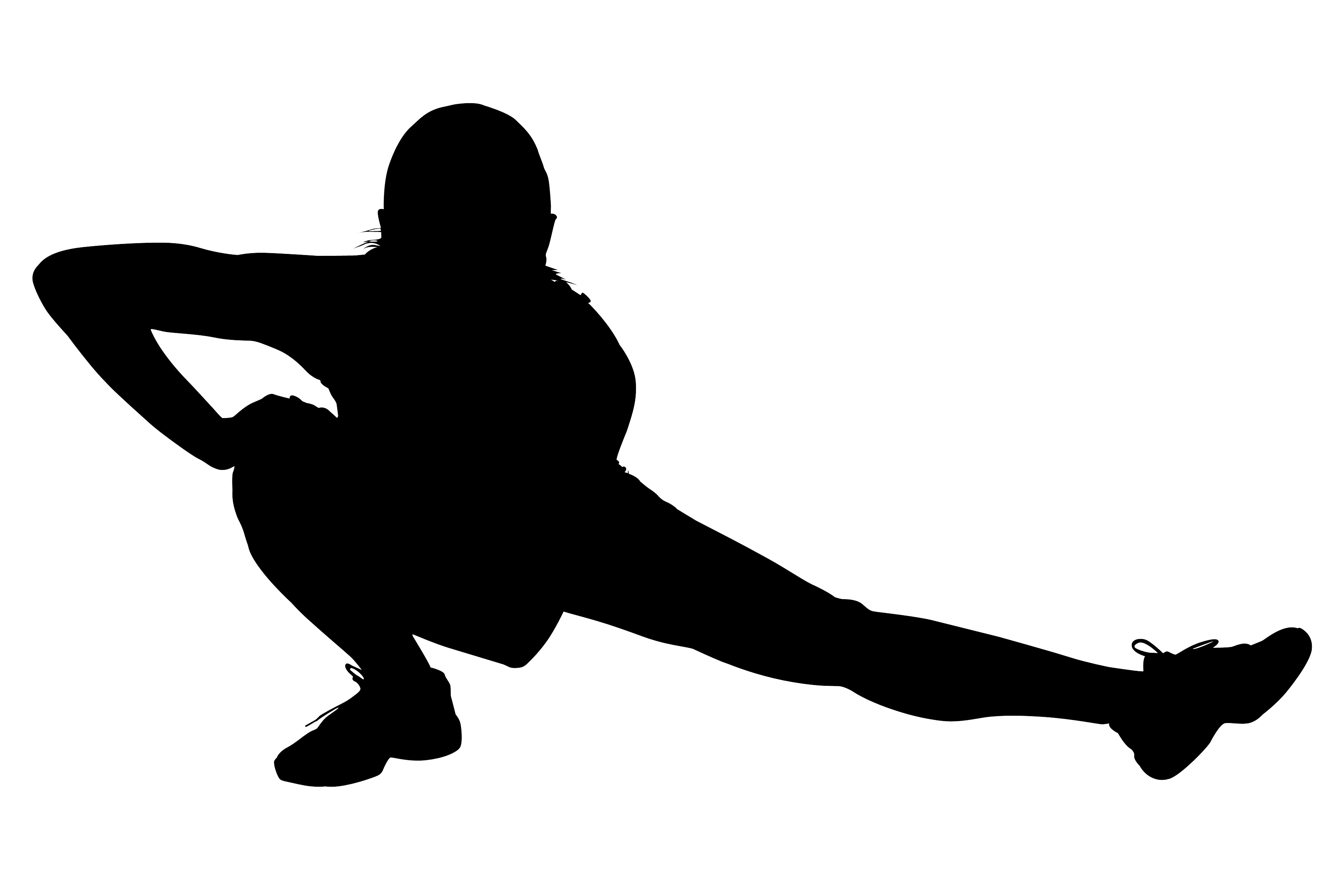 Free cliparts download clip. Exercise clipart silhouette