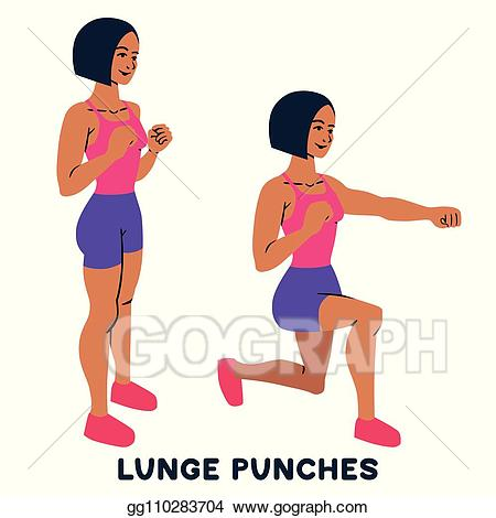Exercise clipart sport training. Eps illustration lunges lunge