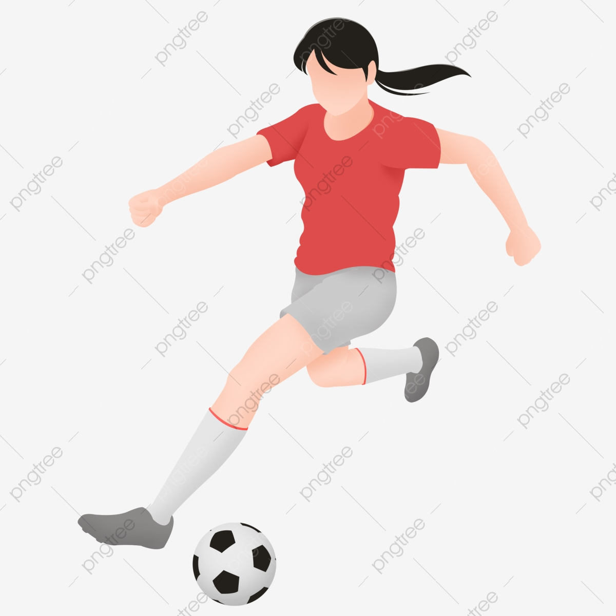 Love girl playing football. Exercise clipart sports day