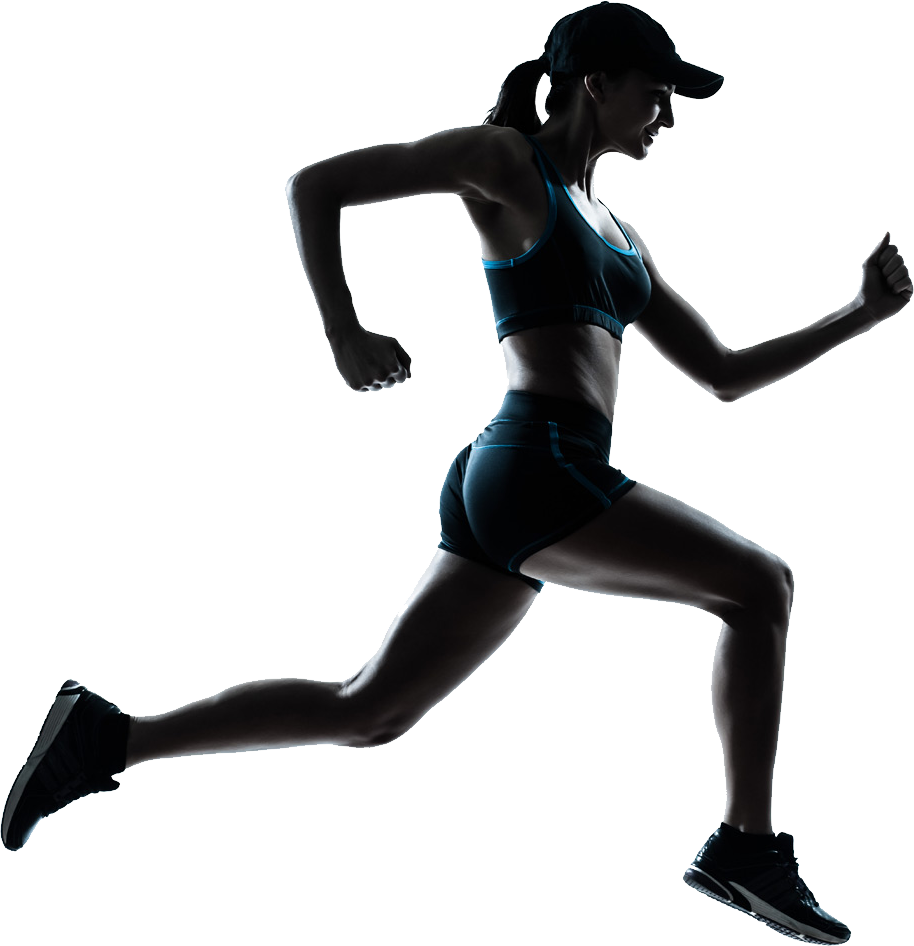 Running women png image. Exercise clipart transparent background
