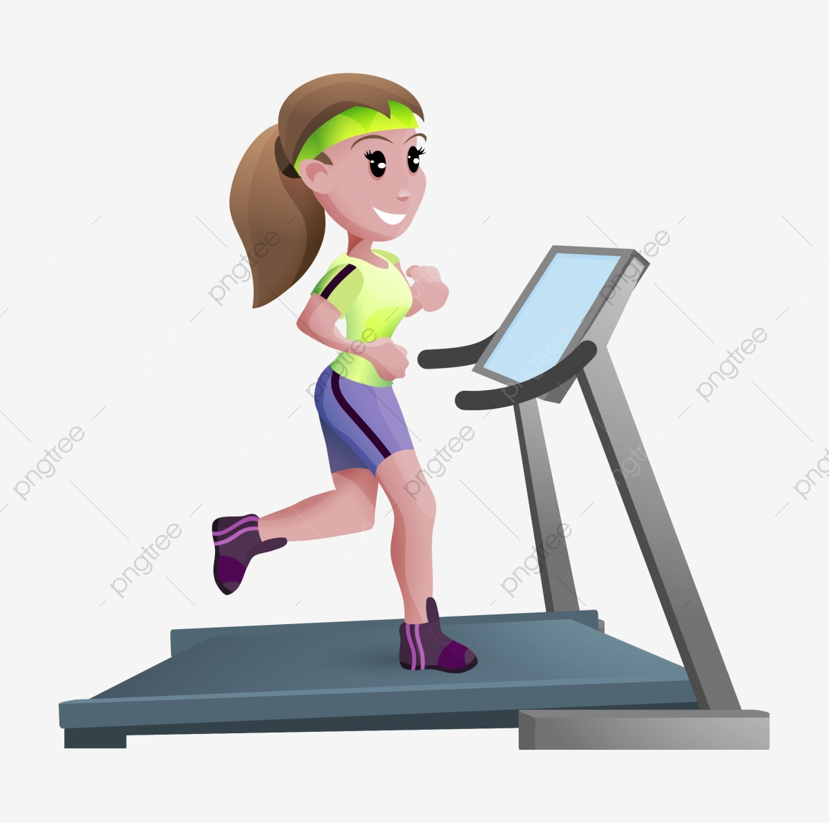 Run aerobic lose weight. Exercise clipart treadmill