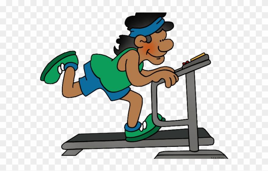Exercise clipart treadmill. Bench class clip art