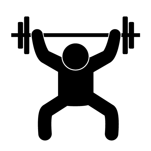 Pin on coloring pages. Exercise clipart weightlifting