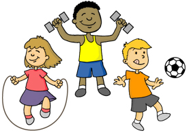 Exercise clipart childrens. Free youth exercising cliparts