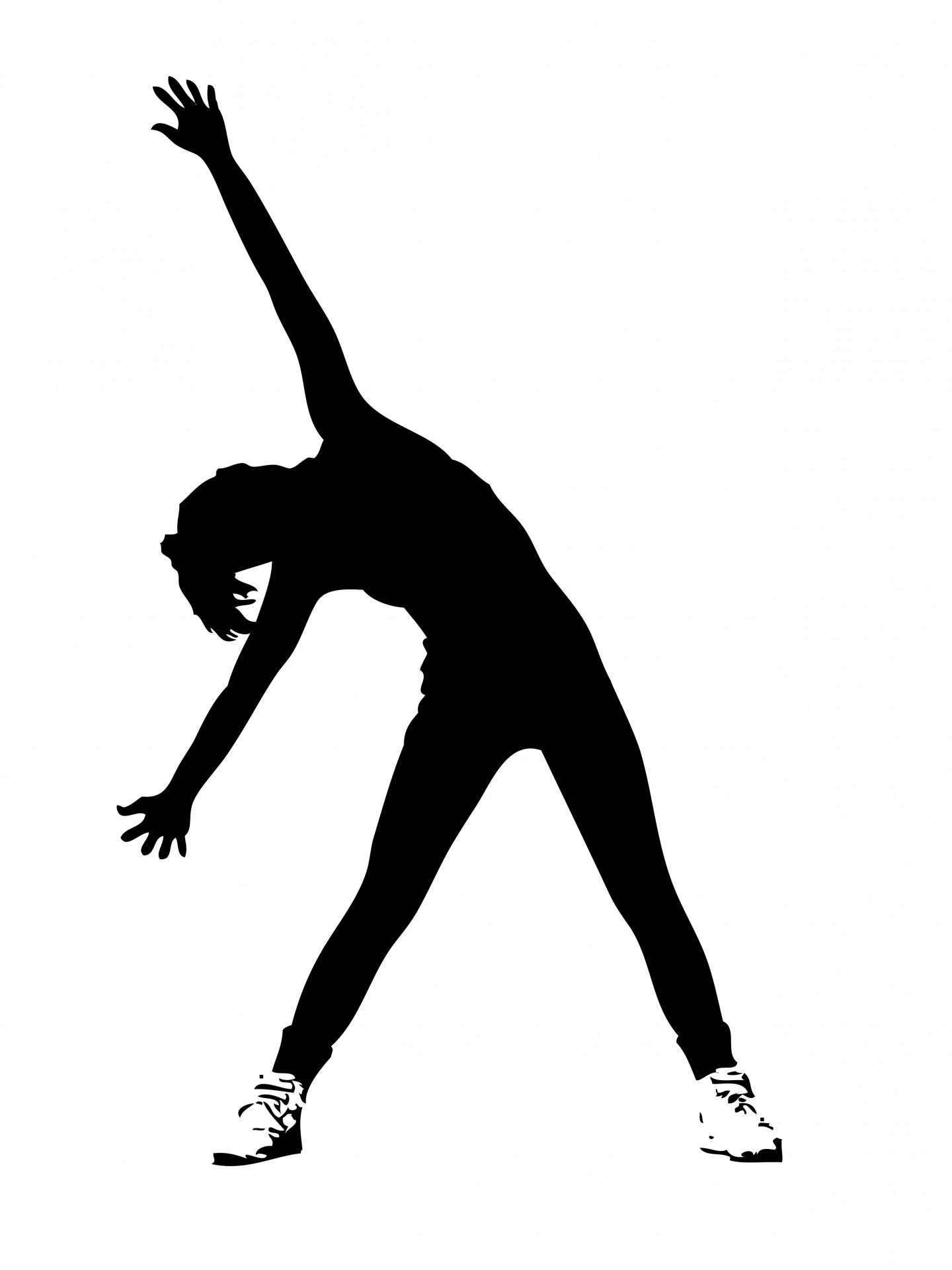 Athletic clipart exercise. Woman exercising free stock