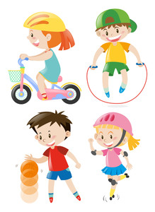 Kids exercising free download. Exercise clipart childrens