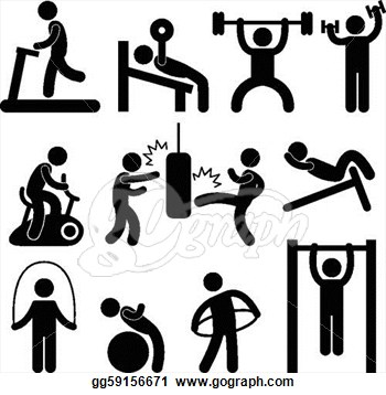 Exercise clip art images. Exercising clipart