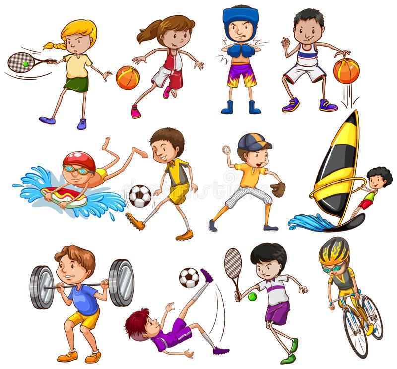 Exercising clipart. Fun exercise encode to