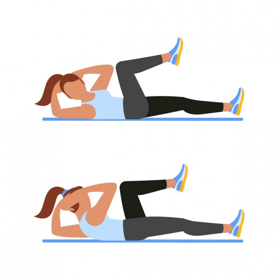 Abs a minute no. Exercising clipart ab workout