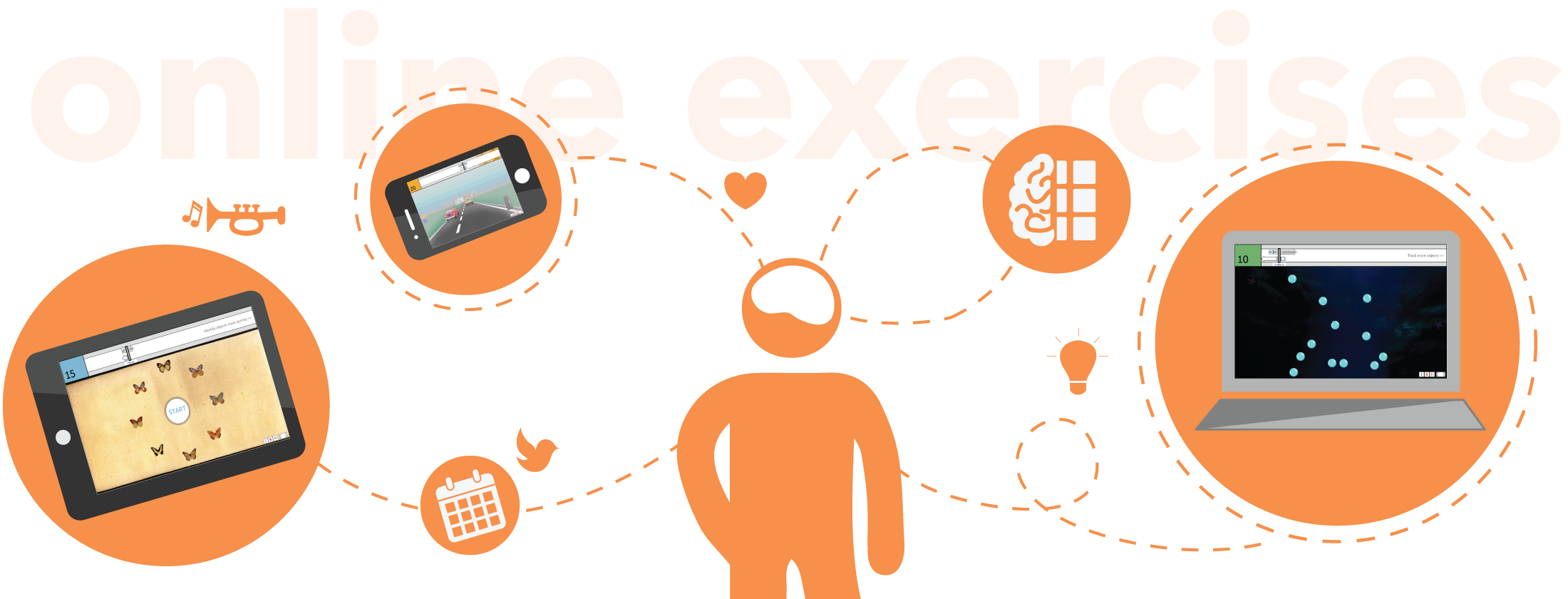 Exercising clipart brain exercise. What is brainhq from